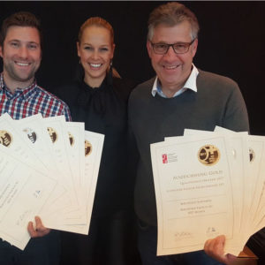 Daniel Berchtold und Bruno Berchtold mit Linda Fäh